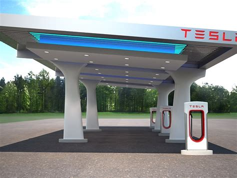 Tesla Charging Stations Tesla Charging Station 3d Model Cgstudio
