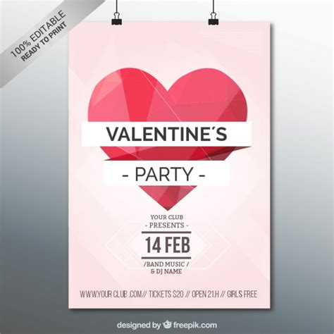 valentines poster s poster template vector free