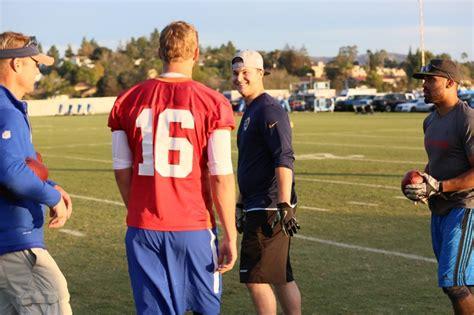 joc pederson visits rams practice dodger insider