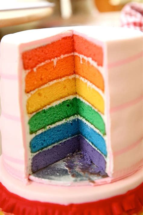 layered rainbow rainbow layer cake recipes dishmaps