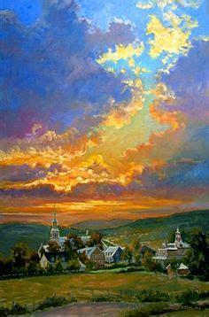 Landscape Paintings Usa Airship By Nisbet Santa Fe Nm Usa Skies