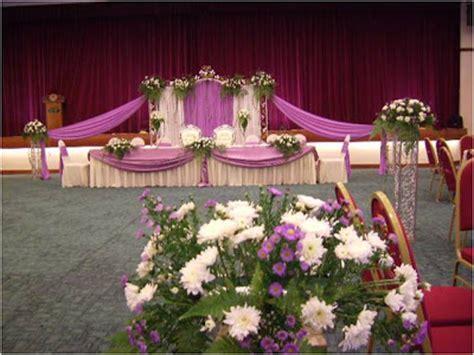 Hiasan Meja Makan Pengantin hiasan dewan perkahwinan