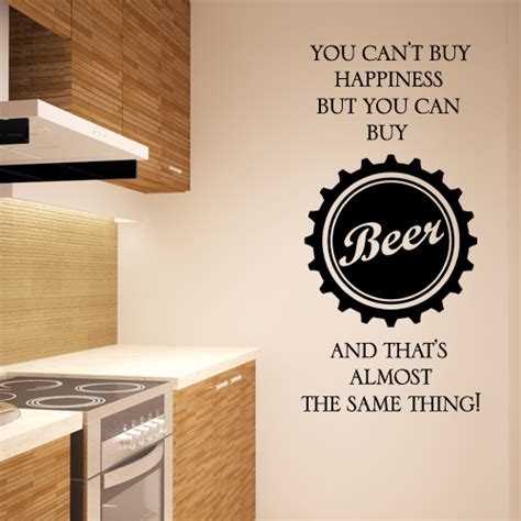 Where Can I Buy Wall Stickers beer wall sticker you can t buy happiness