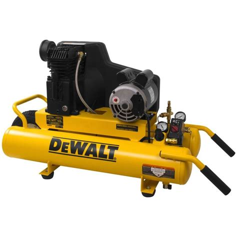 shop dewalt 8 gallon portable electric stack air compressor at lowes