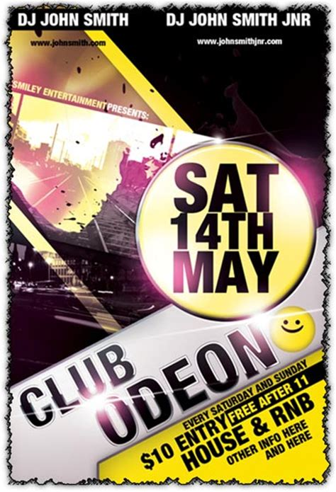 Free Club Flyer Templates Photoshop photoshop club flyer template