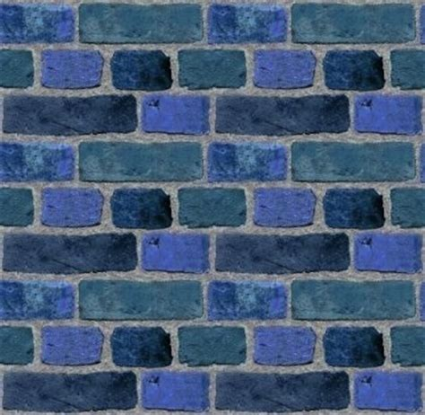 wallpaper blue brick blue brick wall tileable wallpaper background image