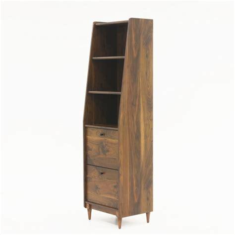 narrow bookcase sauder harvey park grand walnut narrow bookcase 420283