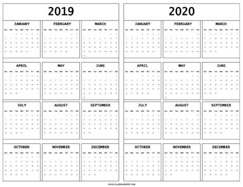 blank    calendar printable    year template