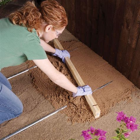 image gallery leveling sand