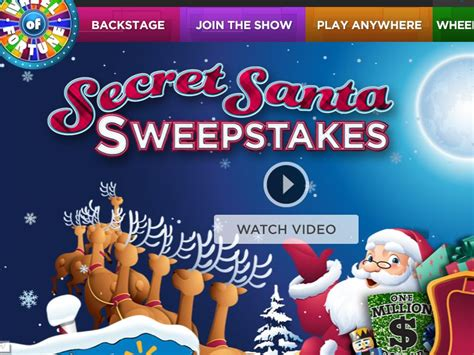 How To Enter Wheel Of Fortune Secret Santa Sweepstakes - wheel of fortune secret santa spin id sweepstakes sweepstakes fanatics