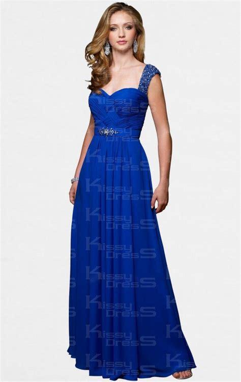 royal blue prom dresses royal blue sheath column straps floor length chiffon prom