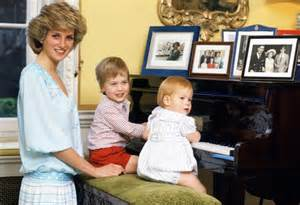 princess diana sons at home with diana and her two sons william and harry
