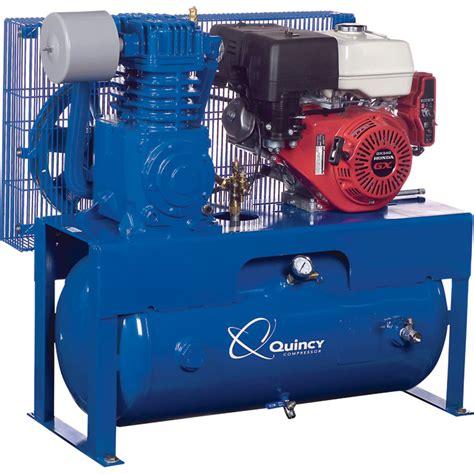 free shipping quincy qt 7 5 splash lubricated reciprocating air compressor 13 hp honda gas