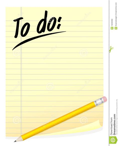 to do list stock vector image of list remind need 19235969