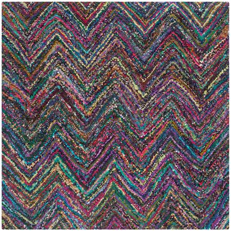 4 square rug safavieh nantucket blue multi 4 ft x 4 ft square area rug nan141c 4sq the home depot