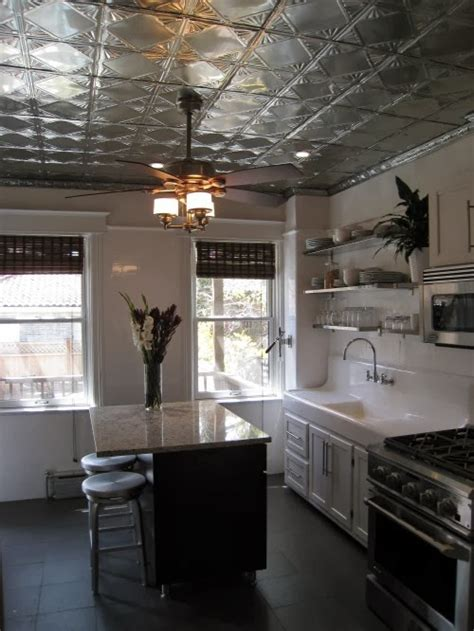 tin ceiling kitchen staging decorating on the cheap let s dress up that