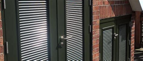 louvered doors boiler room vented doors  louvered doors