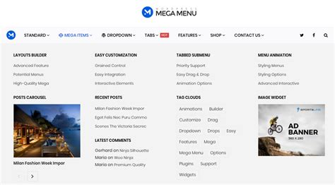 top bar plugin wordpress the best wordpress mega menu plugin themeum