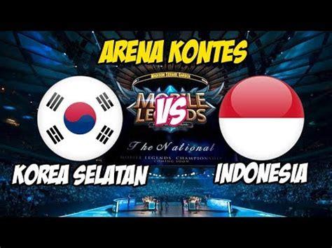 indonesia vs korea selatan 2018 live arena kontes ayo indonesia bisa indonesia vs
