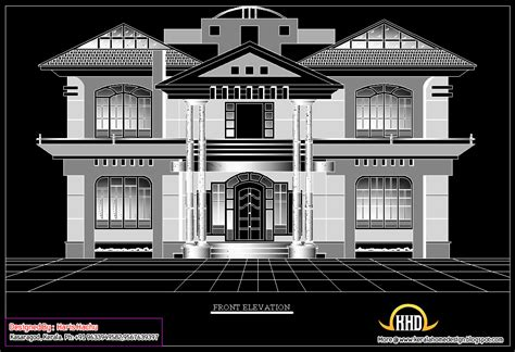 kerala home design 2d double story house elevation home appliance