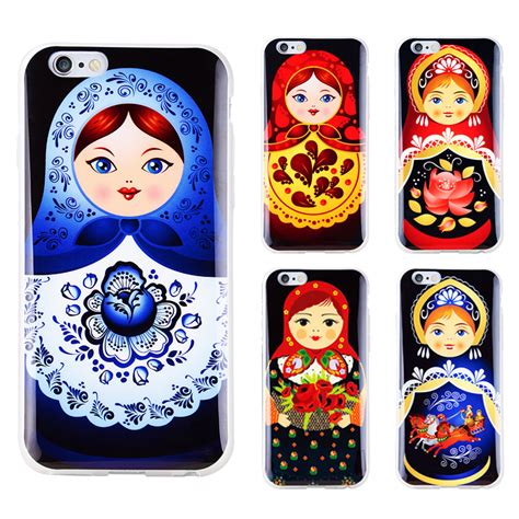 Japan Doll Softcase For Iphone 55s 1 high quality soft tpu russian dolls pattern style cell
