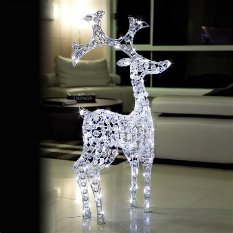 lytworx 30 led warm white reindeer battery operated light