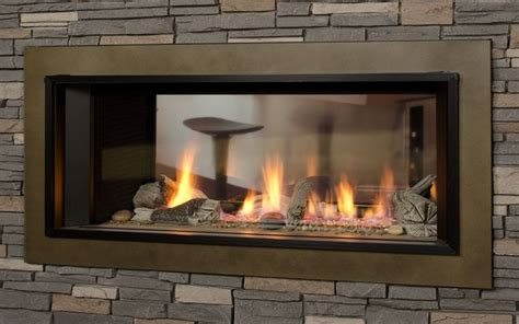 two sided fireplace insert 1600i l1 linear 2 sided valor fireplaces l1