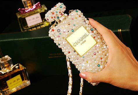 Luxury Fashion Rhinestone Crown Pearl Bling Casecassingcasing Iphone buy wholesale classic chanel perfume bottle rhinestone cover for iphone 6s white