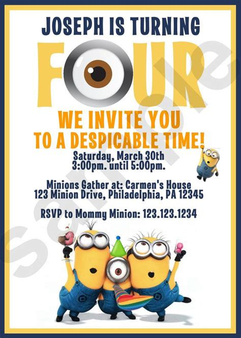 invite christmas minion 25 best ideas about minion birthday invitations on minions birthday theme minion