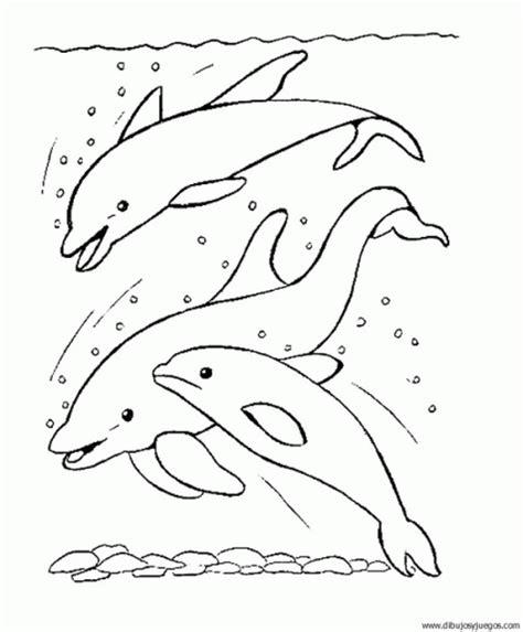 dibujar delfines dibujos para pintar dibujo de delfin 003 dibujos y juegos para pintar y