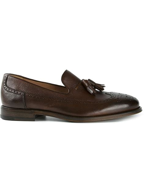 tassle loafer henderson tassel loafers in brown for lyst