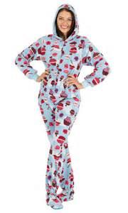 footed pajamas blue cupcakes hoodie one ebay