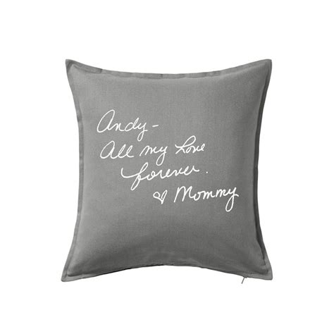 Pillow Writing by Personalized Pillow Cover With Writing Remembrance Pillow