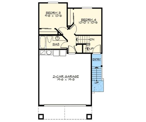 house plans by lot size narrow lot home plan in 2 sizes 23474jd 2nd floor