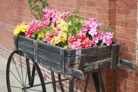 garden flower cart flower cart ideas a charming element of the garden