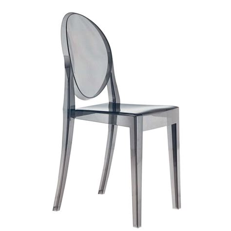 kartell chaises chaise kartell ghost fumee ideesboutique com