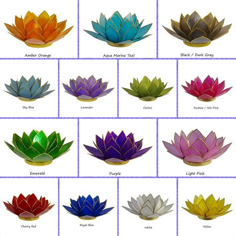 lotus colors new colors lotus tea light candle holders the crabby nook
