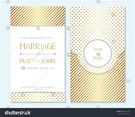 Gold Wedding Invitation Thank You Card Save The Date Cards Baby Shower Menu Flyer Template 2015 Flyer Card Template