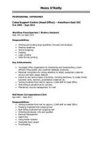 Resume Exle For Woolworth Sle Resume For Customer Service In Coles Augustais