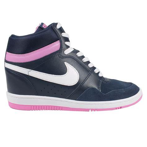 wedge heel sneakers nike nike sky hi leather sneaker with wedge