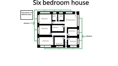six bedroom house plans floor plan for six bedroom house