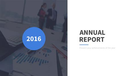 annual report professional powerpoint template by