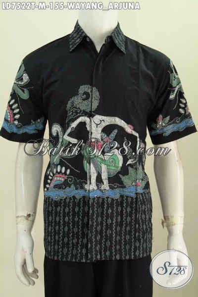 Ms Kemeja Pria Lengan Pendek Furing Hem Arjuna Batik Premium 1 corak baju batik pria terkini hem batik motif wayang
