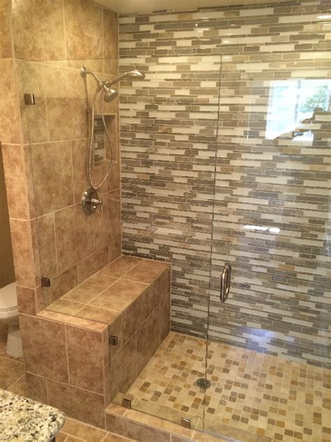 Shower Enclosure With Bench Custom Half Inch Enclosure Patriot Glass And Mirror