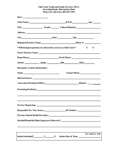 client referral form template fcyfs referral form
