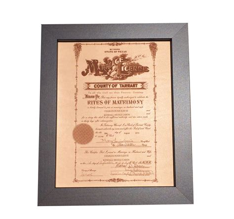 Wedding Anniversary Gift Leather by Leather Marriage Certificate Photo Engraving Leather