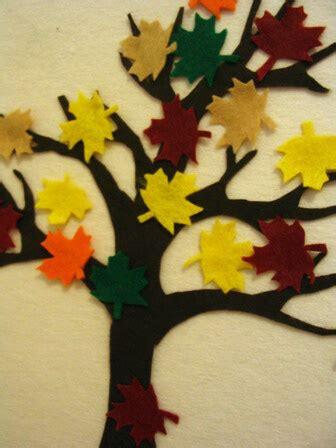 autumn tree felt board pieces  artful parent