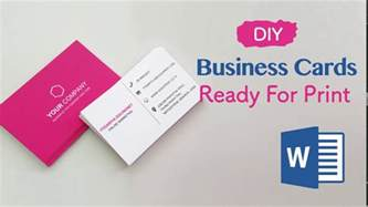easy print business cards how to create your business cards in word professional