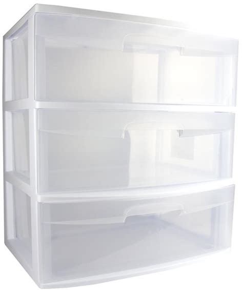 3 Drawer Container Sterilite 29308002 Home 3 Drawer Wide Storage Cart