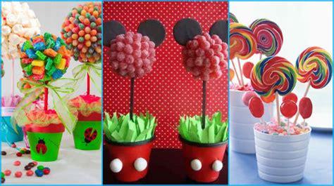 arreglos de mesa para bautizo con golosinas 15 ideas para realizar centros de mesa con dulces bellas decoraciones